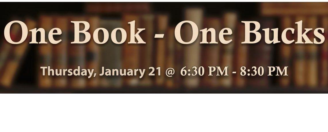 01/21 – One Book – One Bucks IS BACK!